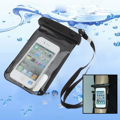 Чехол/сумка для смартфонов/плееров водонепроницаемый (черный,пластик) visavi